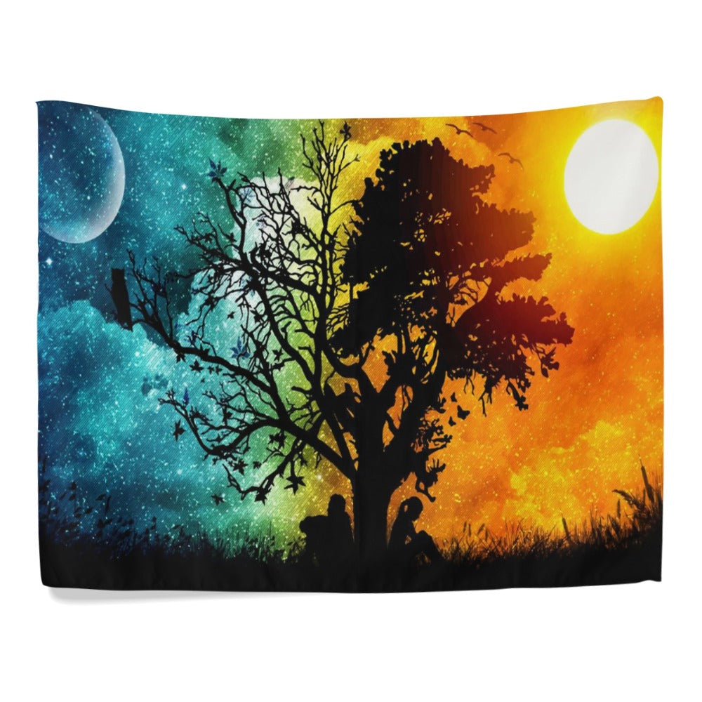 The Night And The Day Colorful Hanging Tapestry