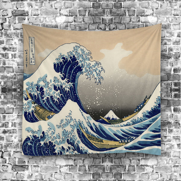 Tidal Wave Graphic Dangling Tapestry