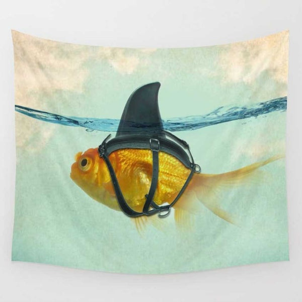 The Captive Gold Fish Tapestry