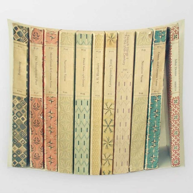 My Ideal Vintage Bookshelf, Creative Hanging Tapestry