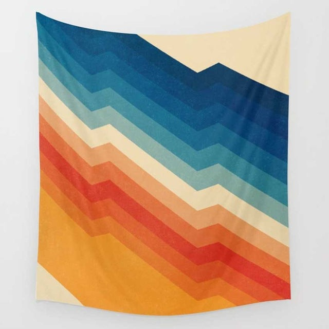 Polychromatic Abstract Barricade Wall Art Tapestry
