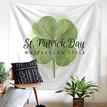 Four Leaf Green Clover Art Tapestry