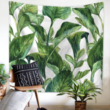 Green Water Colour Artwork Tapestry