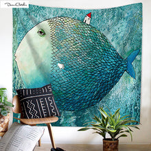 Abstract Fish Colorful Water Tapestry