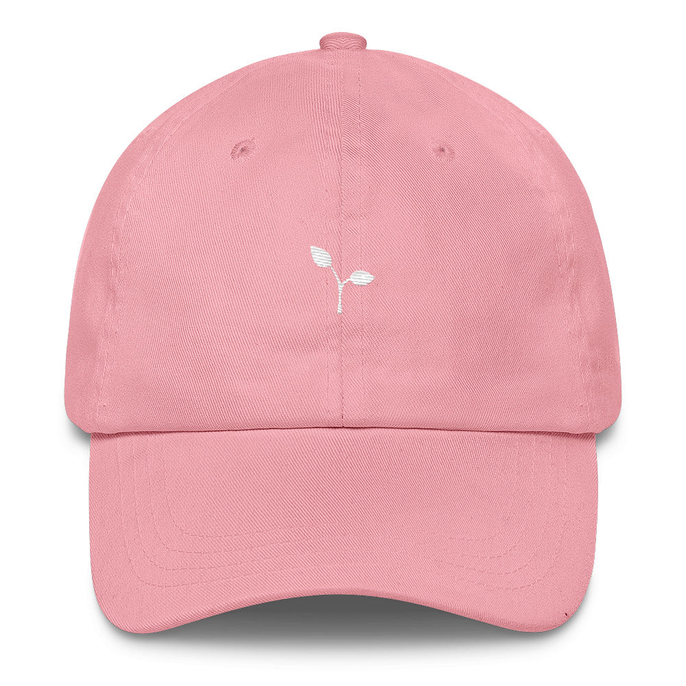"""Seedling"" Dad Hat - White thread"