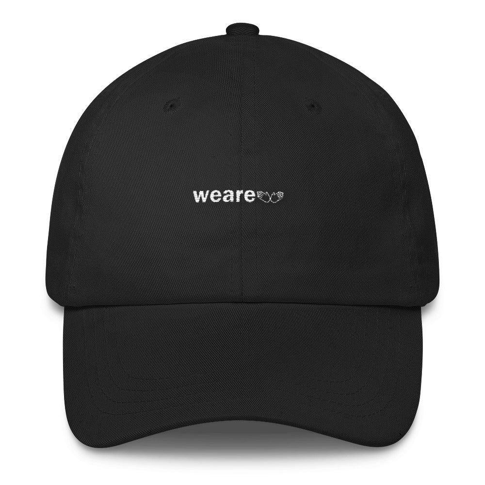 """we are"" Dad Hat - White thread"