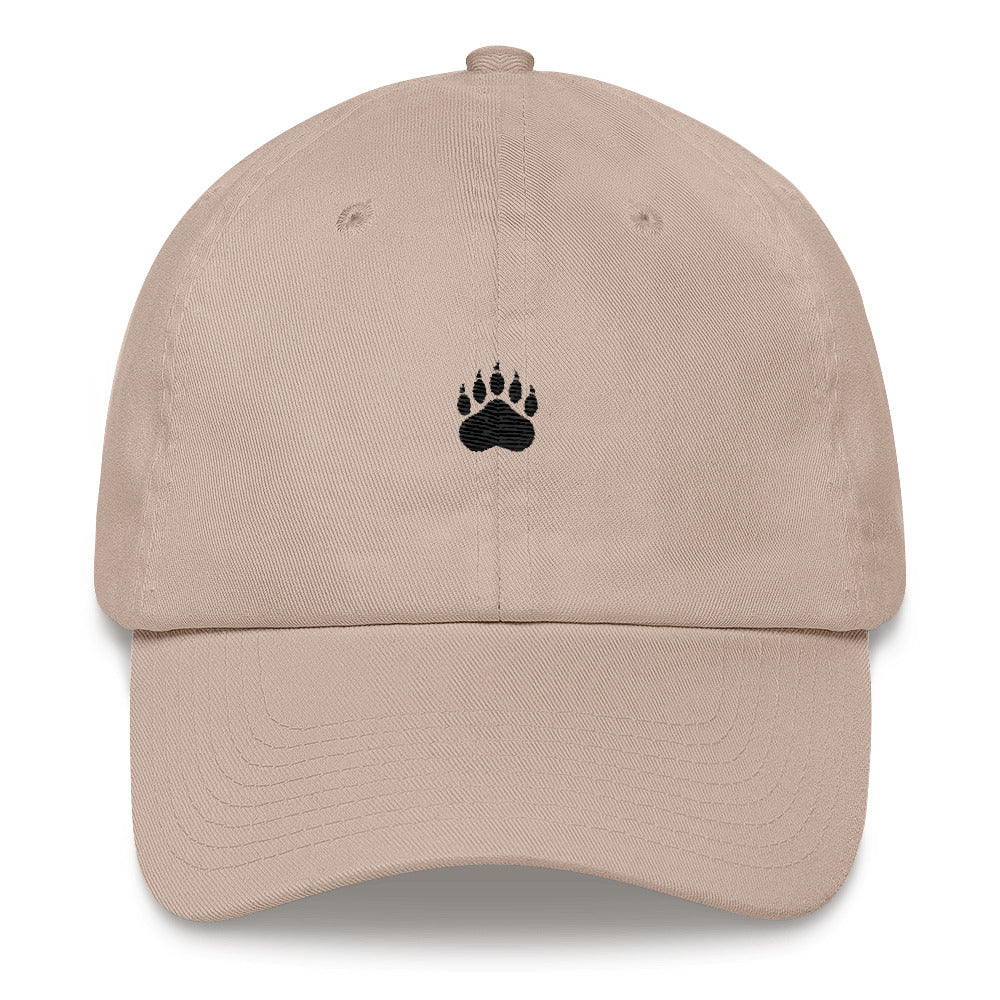 """Paws Off"" Dad Hat - Black thread"