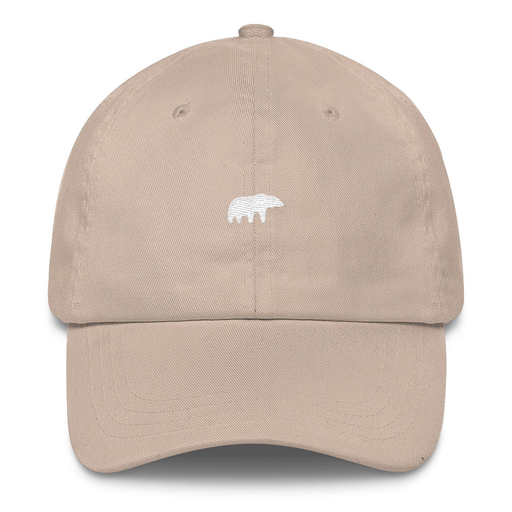 """The Bear"" Dad Hat - White thread"