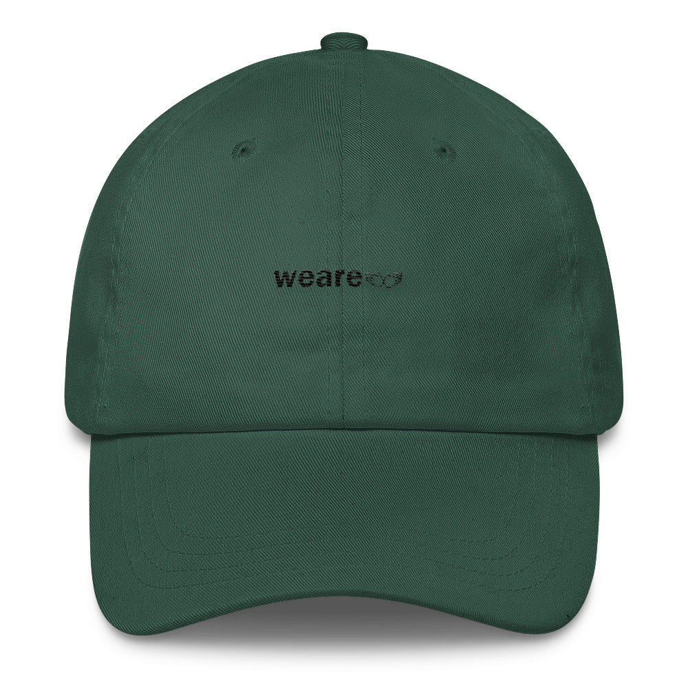 """we are"" Dad Hat - Black thread"