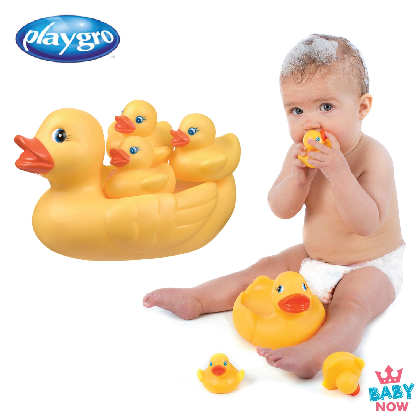 [PG0170338] Playgro Bath Duckie Family (Bath Toy Set)