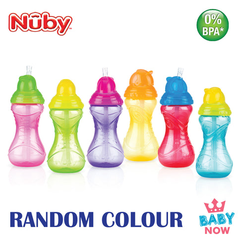NB10112 NUBY CLICK-IT FLIP-IT CUP 360ML (Random Colour)