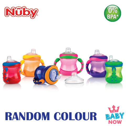 NB10182 NUBY 1 PK 8OZ/240ML TWIN HANDLE CUP (Random Colour)