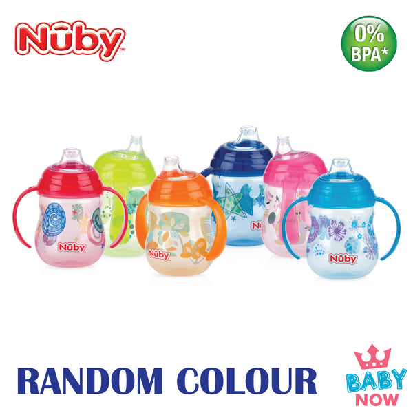 NB10320 NUBY 1Pk DESIGNER SERIES  CLIK-IT TRAINER CUP WITH PP COVER  9OZ/270ML (ASSORTED)