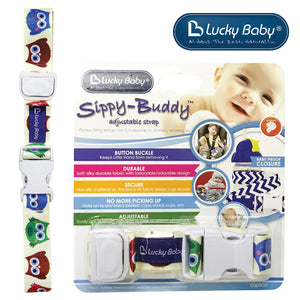 [603451] Lucky Baby Sippy-Buddy™ Adjustable Strap _ Owl