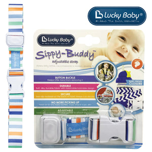 [603482] Lucky Baby Sippy-Buddy™ Adjustable Strap _ Stripe
