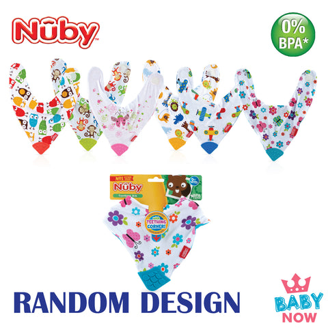 NB4290 Nuby 1PK Bandana Bib With Traingle Teether