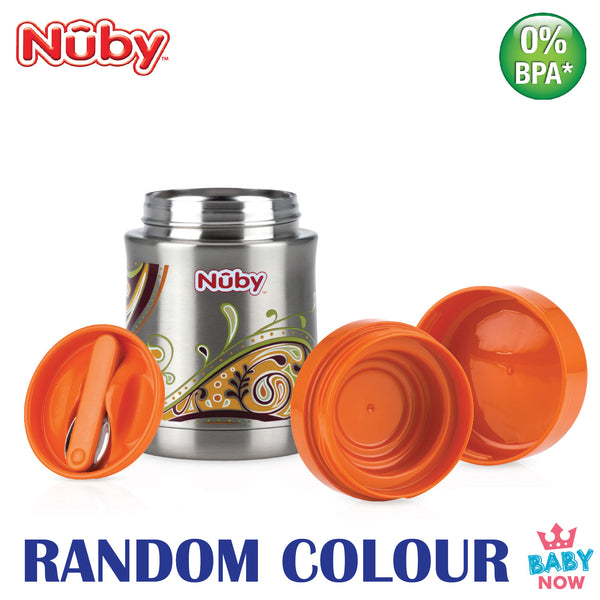 NB5470 Nuby SS Click-It Thermos With Spoon