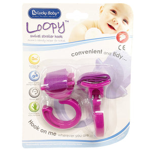 [609323] LOOPY SWIVEL STROLLER HOOK - 2PCS/PACK (ASSORTED)