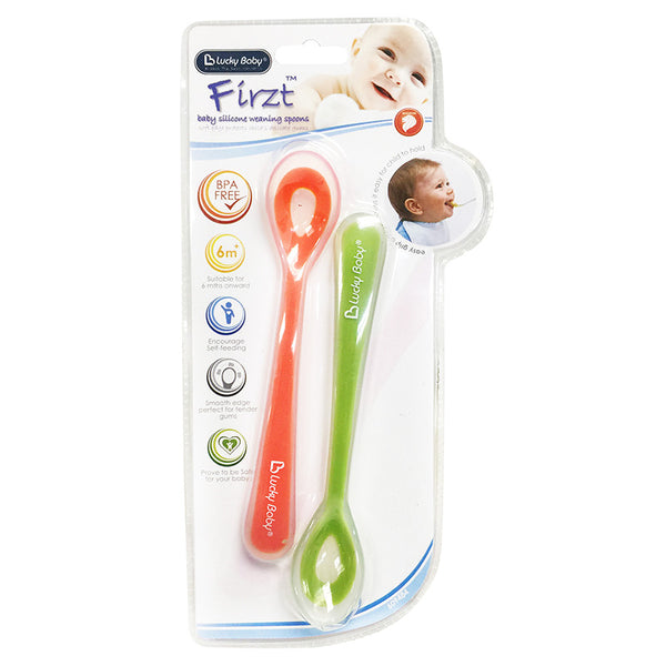 [609484] Firzt™ Baby Silicone Weaning Spoons- 2 Pcs [ASSORTED]