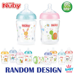 [NB68076S] NUBY Natural Touch 9oz/270ml All Around Printed with Silicone Nipple with New Prints