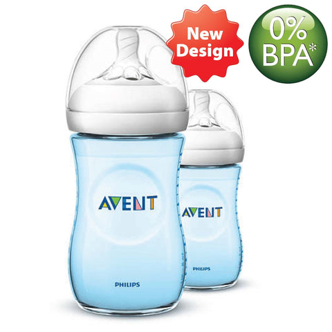 [SCF695/23] Philips Avent Natural 2.0 Bottle (BLUE) 9oz/260ml (Twin Pack) (NEW DESIGN)