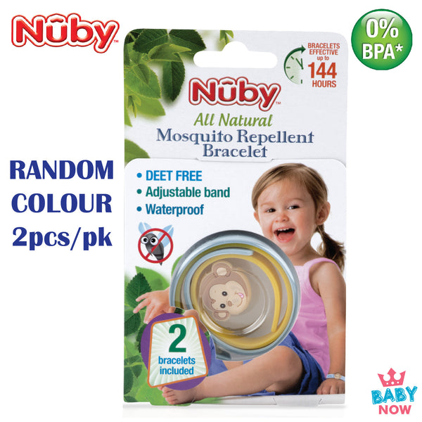 [NB78081] Nuby 2PK Insect Repellent Wristband With Charm
