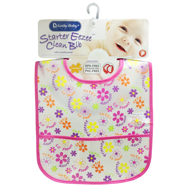 [820056] Starter Eezee™ Clean Bib With Crumb Pocket (PINK)