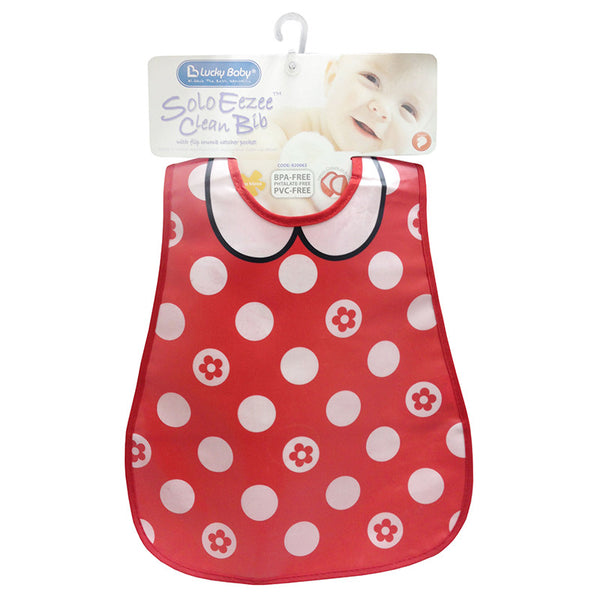 [820063] Solo Eezee™ Clean Bib Flip Crumb Pocket (GIRL)