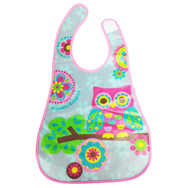 [820186] Stylo Eezee™ Clean Bib with Flip Crumb Pocket (OWL)