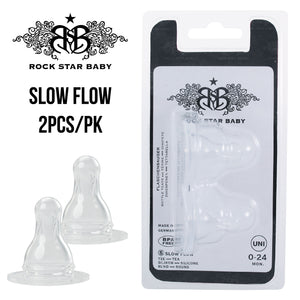 [90601] RSB Silicone nipple round - Slow flow / TEA (2pcs)