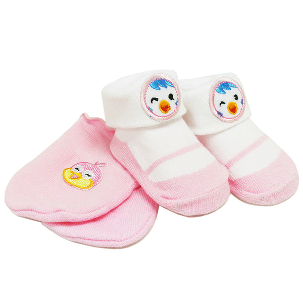 [918333] First Soks™ Mitten & Sock Set-0-3 Mth-Girl (BEST BUY FOR 3)