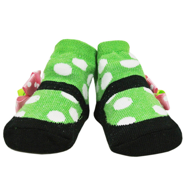 [918449] First Soks™ 3 Pairs Hippy Socks Gift Set-0-12 Mth- Girl (ASSORTED)