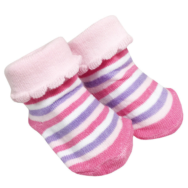 [918548] First Soks 3 Pairs Baby Socks-0-6 Mth- Girl (ASSORTED)