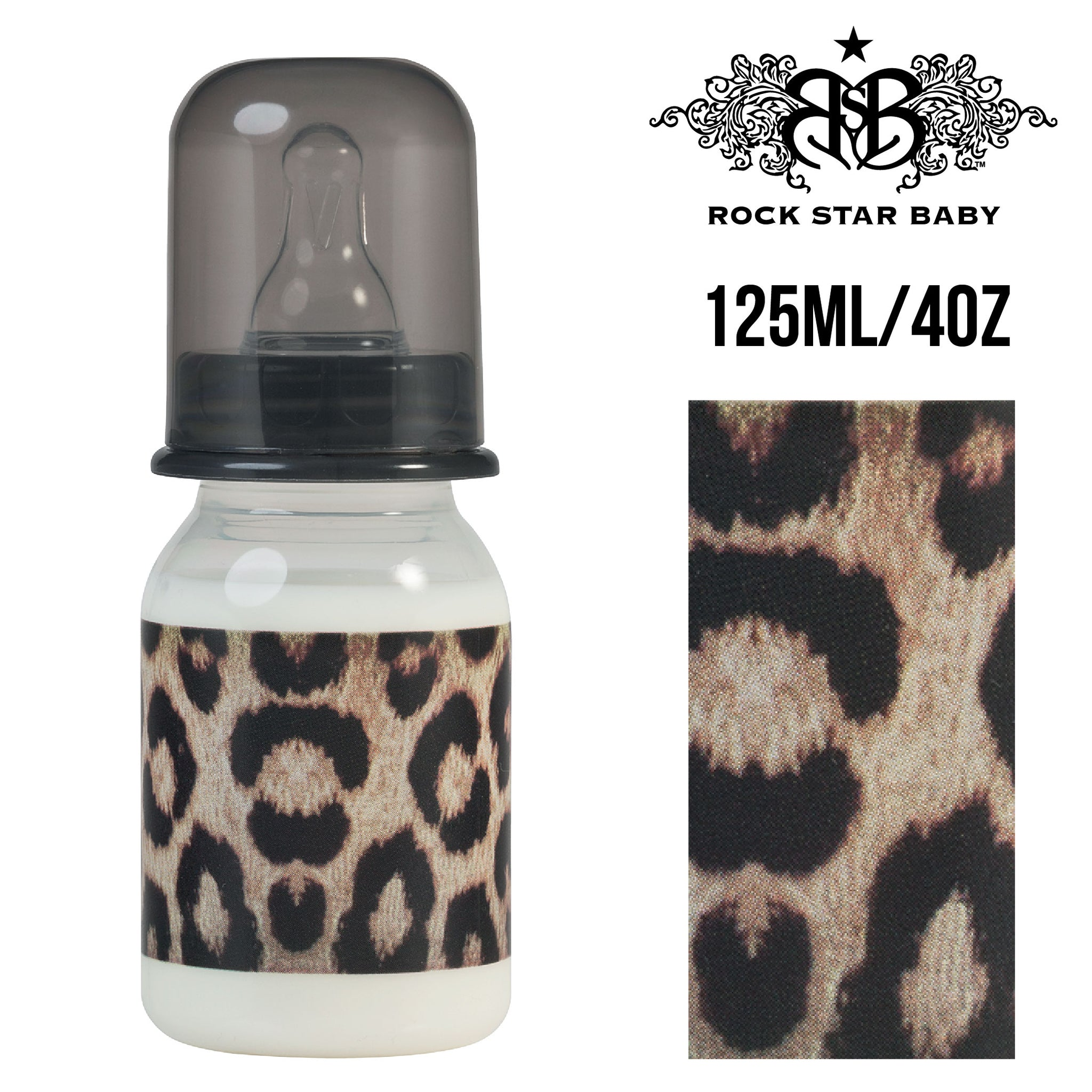 [96071] RSB Narrow Neck Bottles - LEOPARD (125ml/4oz)