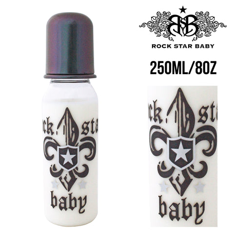 [97074] RSB Narrow Neck Bottles - FLEUR DE LIS DARK (250ml/8oz)