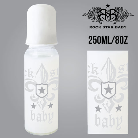 [97075] RSB Narrow Neck Bottles - FLEUR DE LIS LIGHT (250ml/8oz)