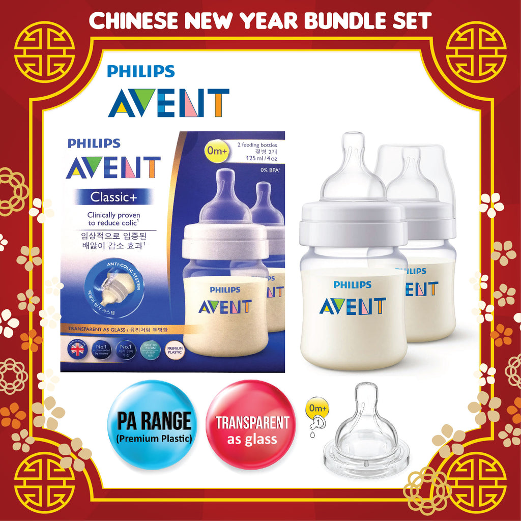2018BNS-003-CNY] Philips Avent PA Classic Plus Feeding Bottles ...
