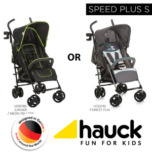 Hauck Speed Plus S - Forest Fun [H135792] / Caviar-Neon Yellow [H135785]