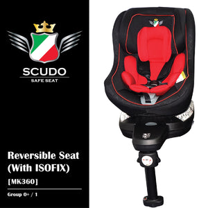 [MK360-RD] SCUDO Reversible Seat (With ISOFIX) - RED