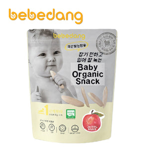 [B70010] Bebedang Organic Puffed Rice Snack - Rice Bud & Apple
