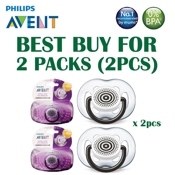 [SCF172/10] Philips Avent Soother Fashion Freeflow BOY (6-18mths) TWIN PK