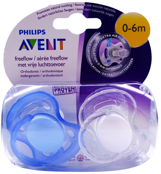 [SCF178/23] Philips Avent Soother Freeflow BPA Free 0~6M (BEST BUY FOR 2 PACKS)