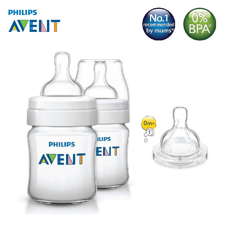 [SCF560/27] Philips Avent Classic Plus Feeding Bottle 4oz/125ml (Twin)