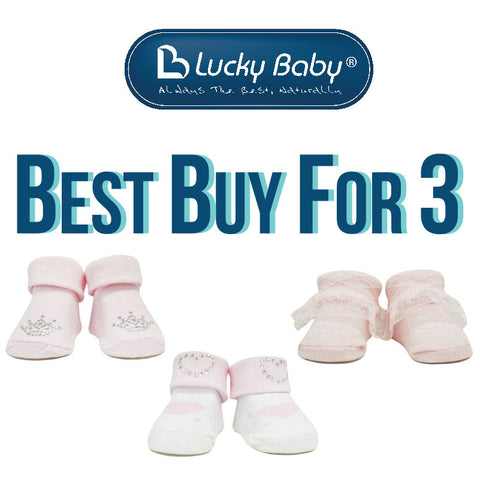[918388] First Soks™ Fold Up Socks-0-6 Mth-Box- Girl (BEST BUY FOR 3)