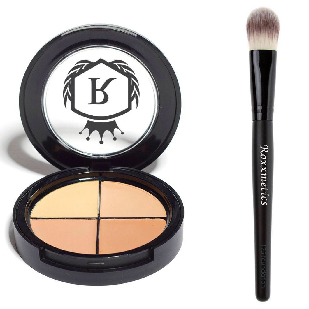 Foundation Quad + Flat foundation Brush