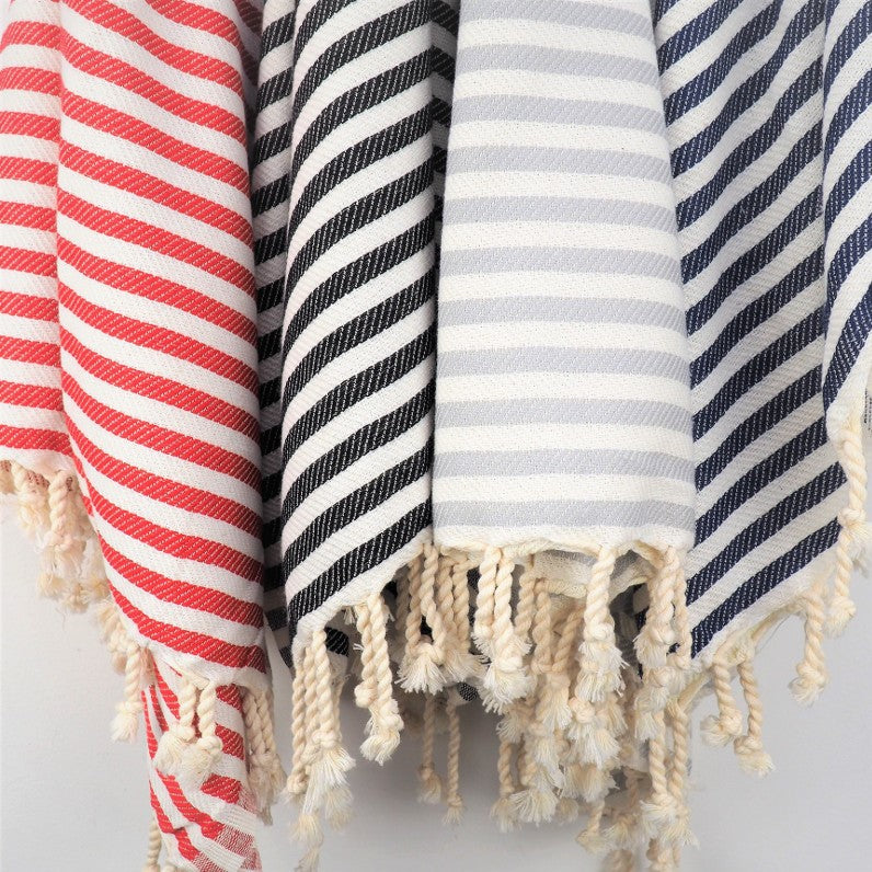 Striped hammam towel, Terra Ocra