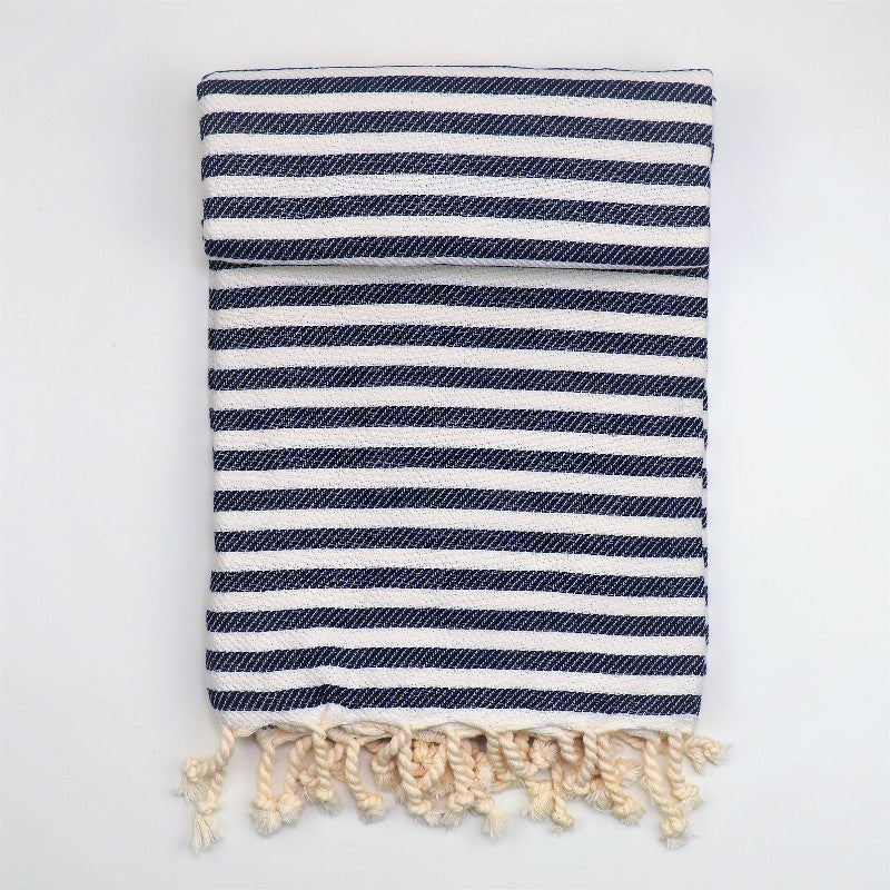 Hammam towel Marmara, navy stripes
