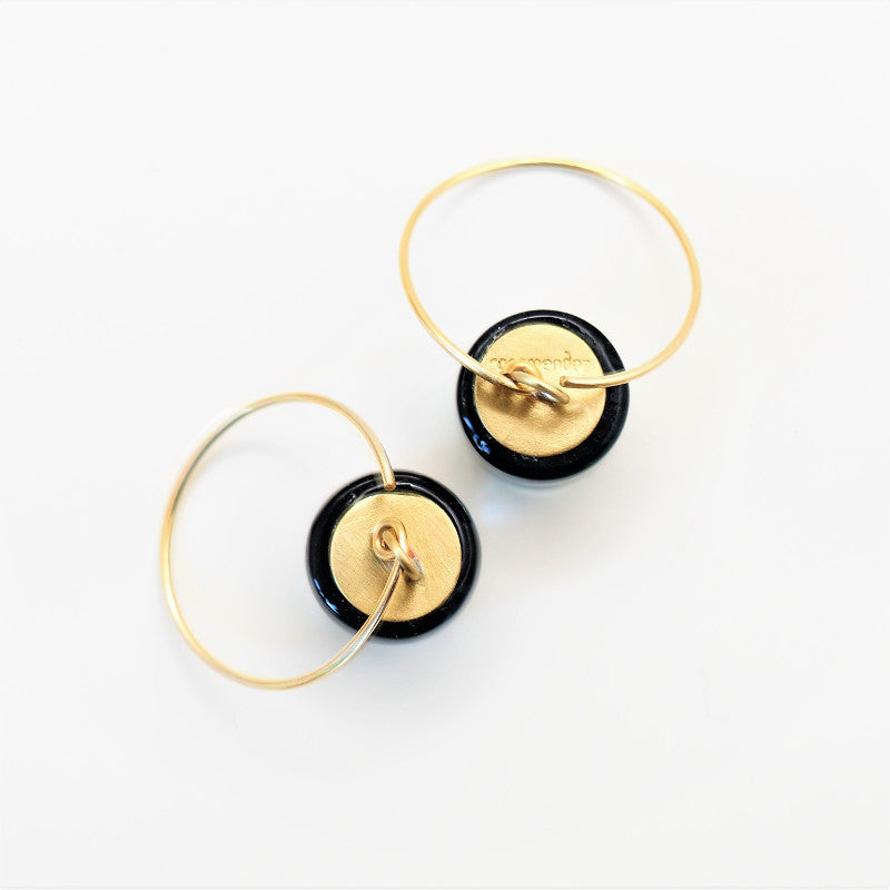 Rosa Mendez, hoop earrings, Terra Ocra