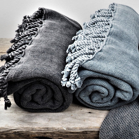 Stonewashed hamam-towel
