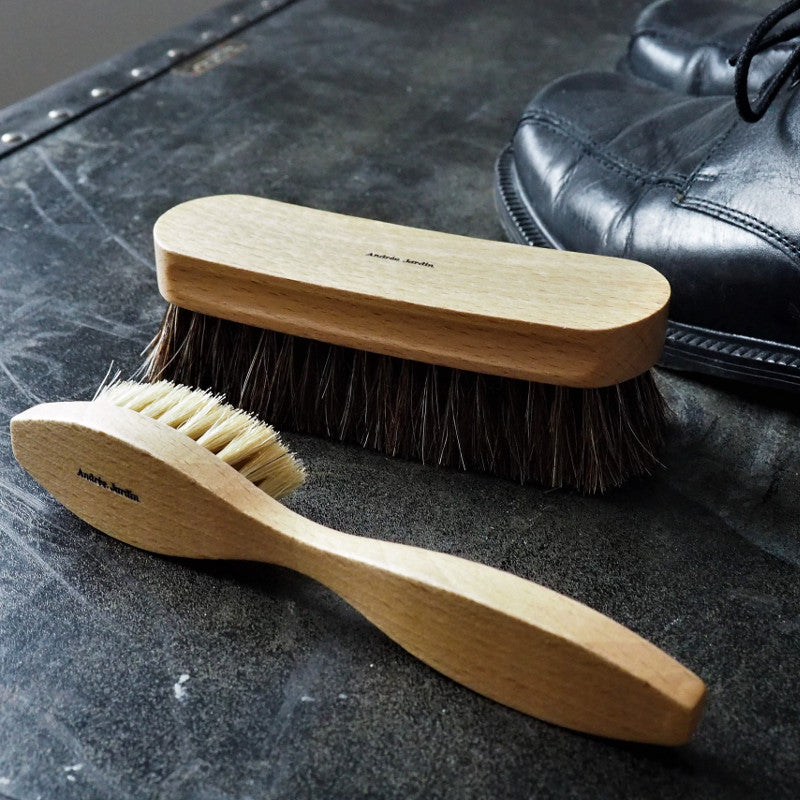 Shoeshine applicator brush & shoeshine brush, Andree Jardin